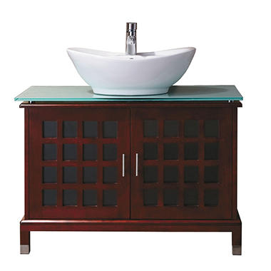 Jenna Vanity Tempered Glass Top