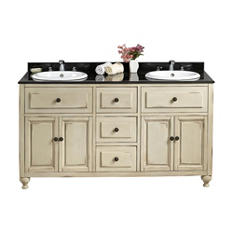 Kensington Vanity – White w/ Black Top