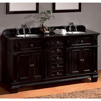 Essex Double Vanity with Black Granite Countertop