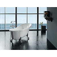 "OVE Decors 66"" Freestanding Clawfoot Tub with Telephone Faucet"