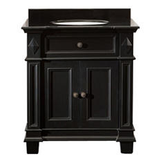 Essex Vanity Dark Wood Finish