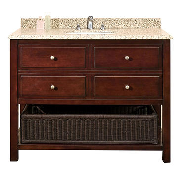 Deacon Vanity Stained Hardwood