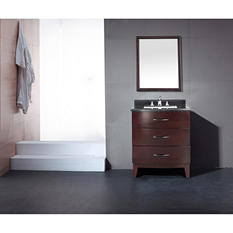 Ove Decors Tobo 30in Vanity in Tobacco Brown with Marble Top