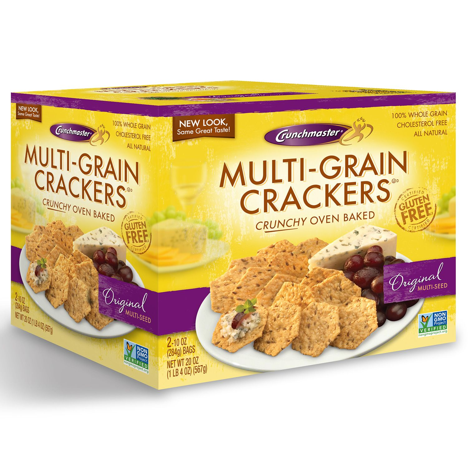 Details about Crunchmaster Multi-Grain Crackers Gluten Free 20 oz.