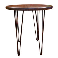 EcoVet Contemporary Reclaimed Wood End Table