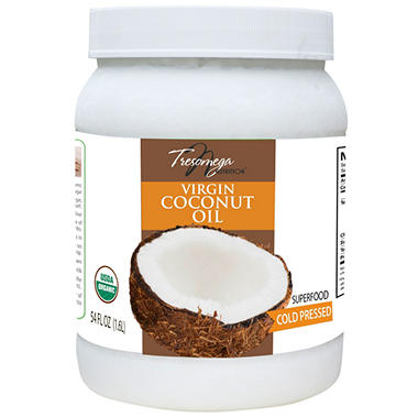 Tresomega Nutrition Organic Virgin Coconut Oil (54 oz., 2 pk.)