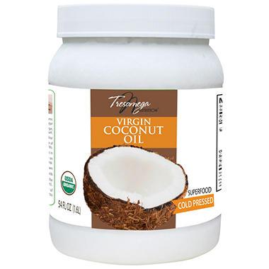 Tresomega Nutrition Organic Virgin Coconut Oil (54 oz., 6 pk.)