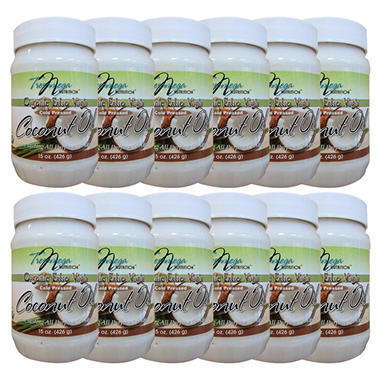 TresOmega Nutrition Certified Organic Extra Virgin Coconut Oil - 15 oz. - 12 pk.