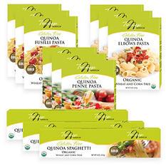 Tresomega Nutrition Organic Quinoa Pasta Variety Pack (3 8-oz. elbow, 3 8-oz. spaghetti, 3 8-oz. fusilli, 3 8-oz. penne)