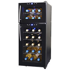 NewAir 21-Bottle Dual Zone Wine Cooler
