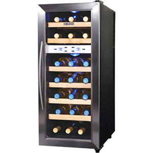 NewAir 21-Bottle Stainless Steel Dual-Zone Wine Cooler