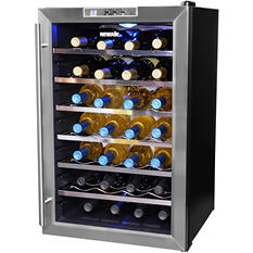 NewAir 28-Bottle Stainless Steel Wine Cooler