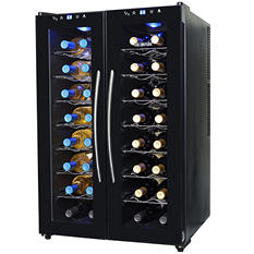 NewAir 32-Bottle Dual-Zone Wine Cooler
