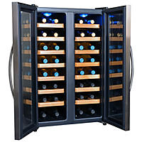 NewAir 32-Bottle Stainless Steel Dual-Zone Wine Cooler