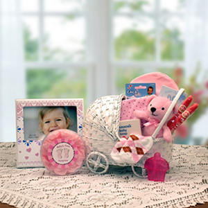 Bundle of Joy Baby Carriage in Pink