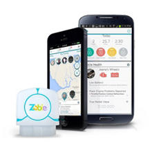 Zubie - Remotely Monitors Car Location, Health and Driver Behavior w/ Key and 1 Year Subscription