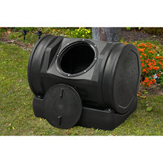 7-Cubic Foot Compost Wizard Jr. Soil Machine PRO, Black