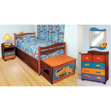 Boys Like Trucks Bedroom Set 4 Pc Chocolate Sam 39 S Club