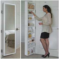 Cabidor Classic Deluxe: Mirrored Behind-the-door Storage Cabinet