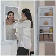 Cabidor Mini Deluxe: Mirrored Behind-the-door Storage Cabinet