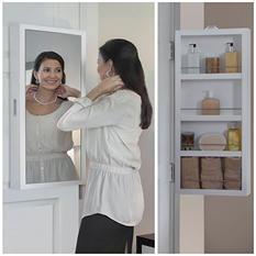 Cabidor Mini Deluxe: Mirrored Behind-the-door Storage Cabinet