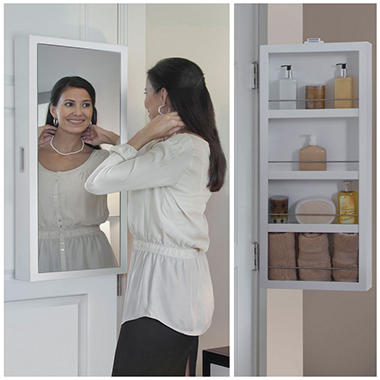 Cabidor Mini Deluxe Mirrored Behind The Door Storage