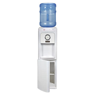 Hamilton Beach Hot & Cold Top Load Water Dispenser with Storage Cabinet, White