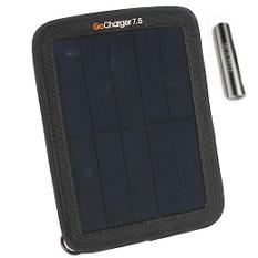GoCharger 7.5 Watt Portable Solar Rechargeable Battery Pack