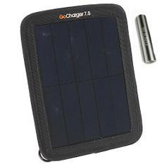 GoCharger 7.5 Watt Portable Solar Rechargeable Battery Pack