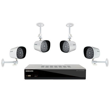 Samsung SDE-3003 4 Channel Surveillance System - 4 Cameras