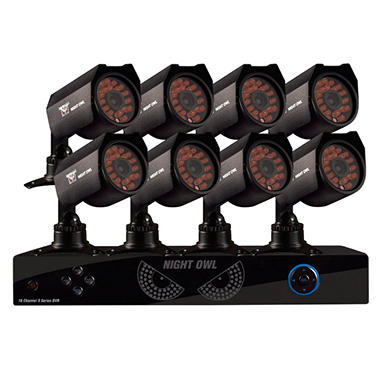 Night Owl 16 channel Security System with 1TB Hard Drive, 8 Hi Res 600TVL Indoor-Outdoor Cameras, 50' Night Vision