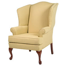 Ellis Butter Yellow Wingback Chair