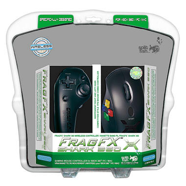 FragFX Shark Wireless Controller with Mousepad for the Xbox 360
