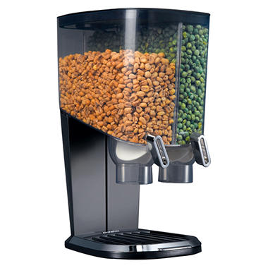 EZ-SERV 100 Cereal Dispenser and Snack Dispenser - Black
