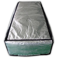 "25"" x 59"" Attic Stair Cover in Double Reflective Insulation with Adjustable Straps and Zipper Opening"