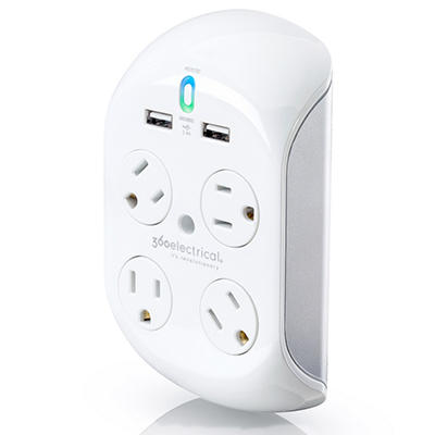 Revolve+ with 4 Rotating Outlets and 2 USB Outlets