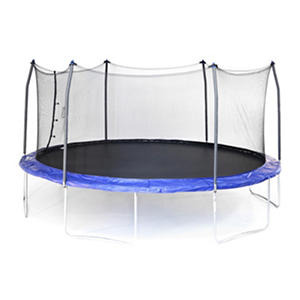 Skywalker Trampolines 17' Oval Trampoline and Enclosure - Blue