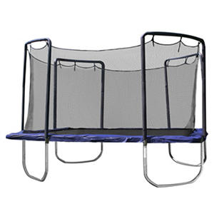 Skywalker Trampolines 15' Square Trampoline and Enclosure - Blue