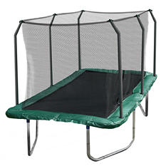 Skywalker Trampolines 14' Rectangle Trampoline and Enclosure - Green