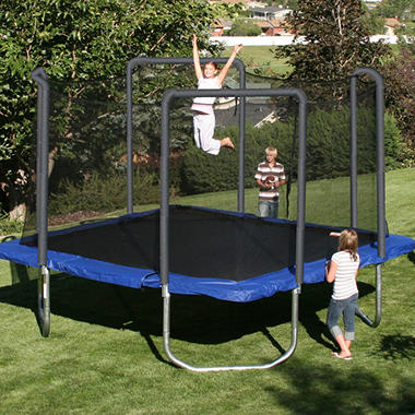 Square Trampoline with Safety Enclosure - 13'