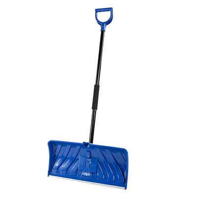 "Snow Joe Edge 2-In-1 24"" Poly Blade Snow Pusher and Ice Chopper, Blue"