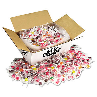 Office Snax� Lick Stix Candy Suckers - 7 Assorted Flavors - 1,440 ct.