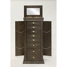 Hives & Honey Madison Jewelry Armoire - Grey Wash