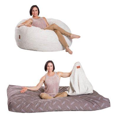 chair sleeper bed corduroy bean bag convertible
