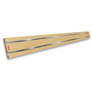 "Guitar Hanger MX for SlatWall MX Strip,  Maple  48"" long"