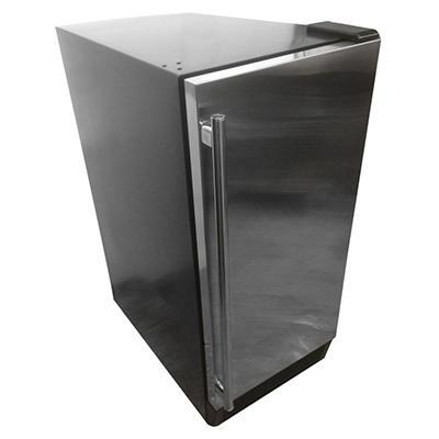 Bluestone Stainless Steel 50 lb. Ice Machine with Storage