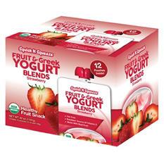 Squish N Squeeze Fruit & Greek Yogurt Blends, Strawberry (3.5 oz. ea., 12 pouches)