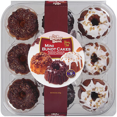 The Bakery Baron® Mini Bundt Cakes - 9 ct.