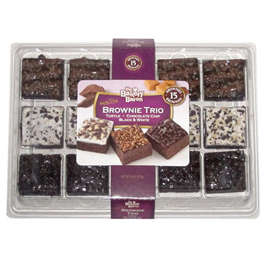 The Bakery Baron® Brownie Trio - 24 oz.
