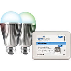Bayit Home Automation BH1805 LED Lighting Starter Kit w/ 2 LED Color-Changing Light Bulbs & Wi-fi Gateway